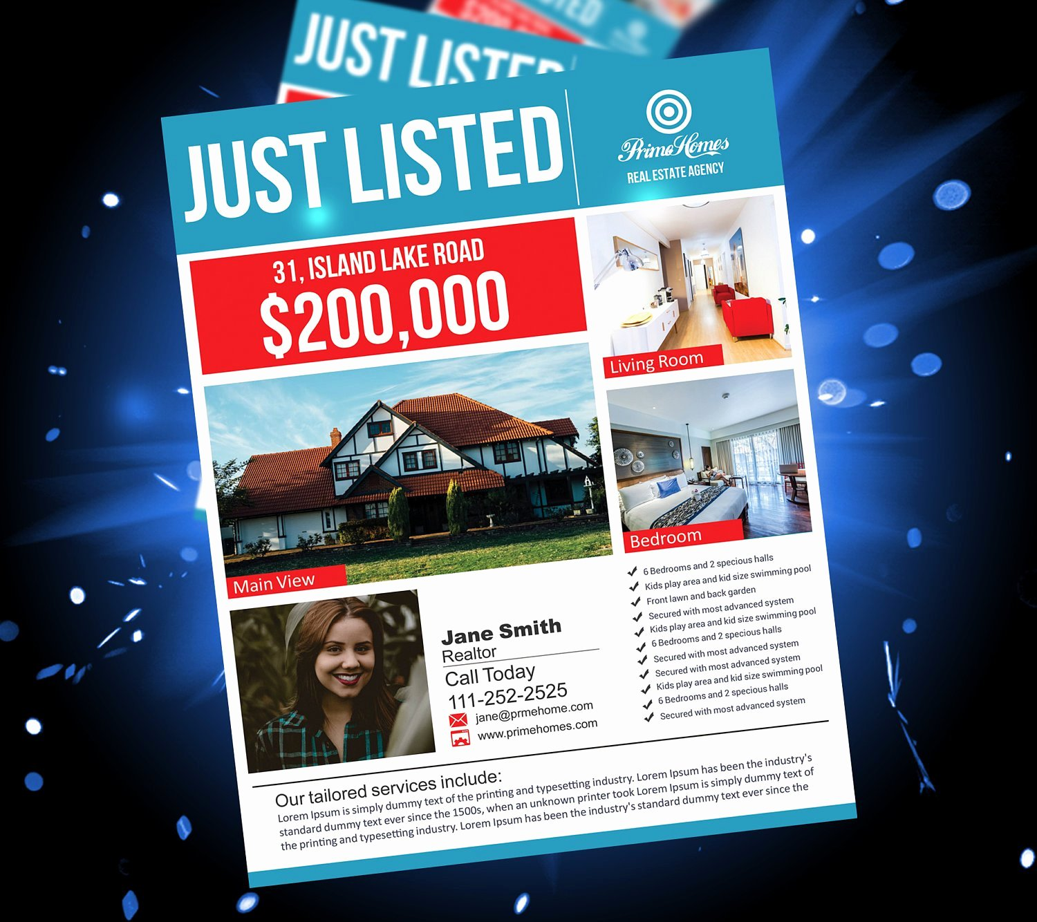 Advertising Flyer Template Word Real Estate Open House