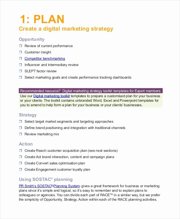 Advertising Plan Template 7 Free Word Excel Pdf