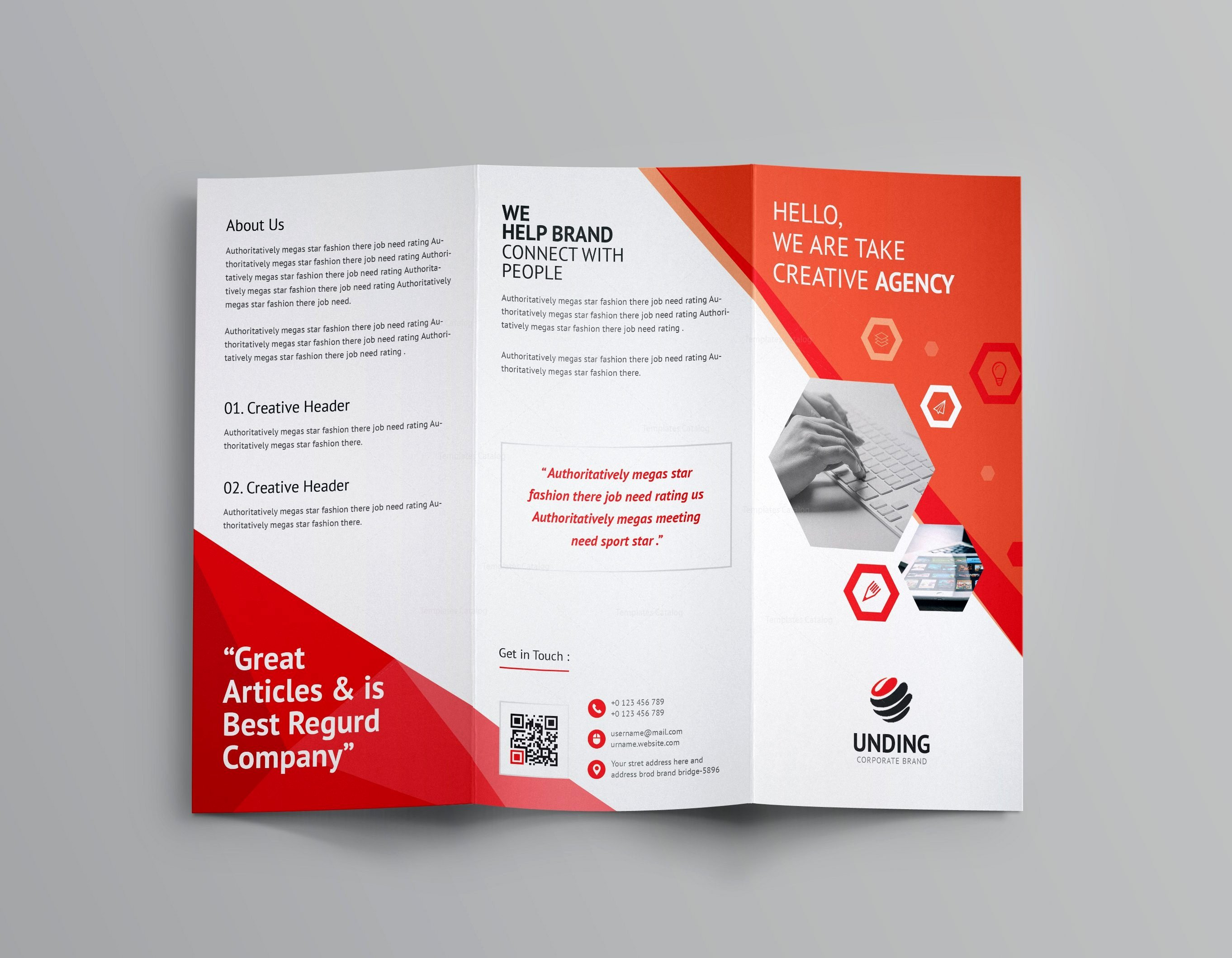 Aeolus Corporate Tri Fold Brochure Template