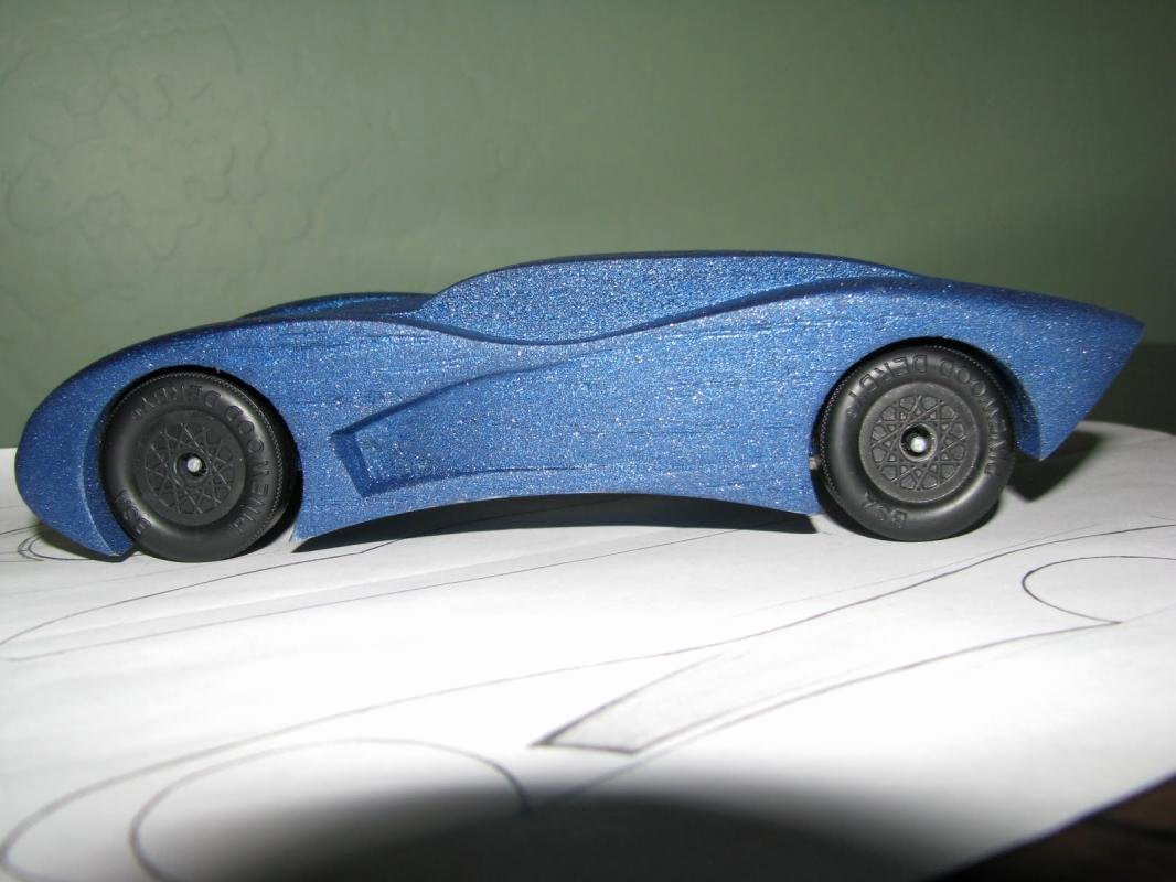 Aerodynamic Pinewood Derby Car Templates