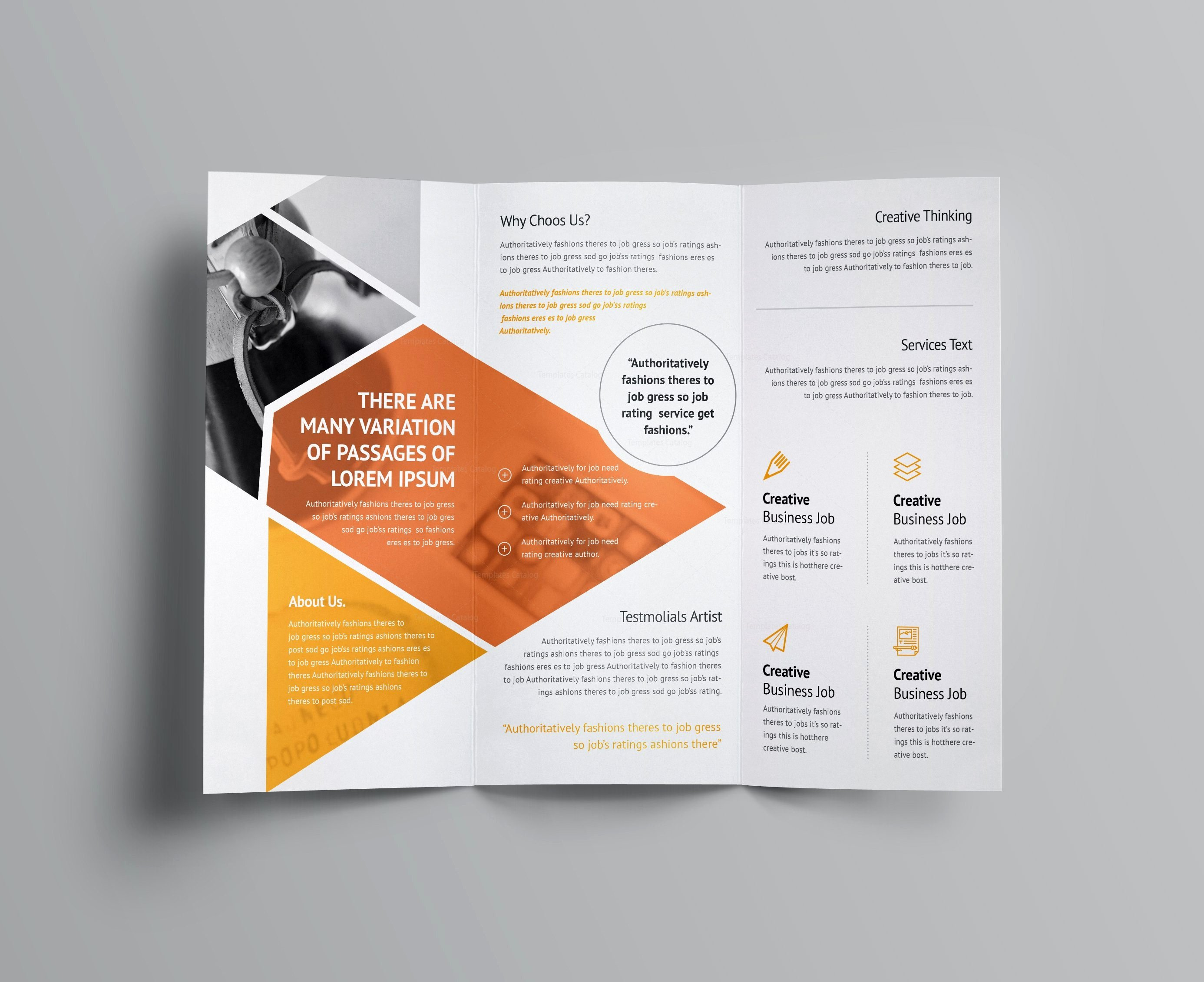 Aether Corporate Tri Fold Brochure Template