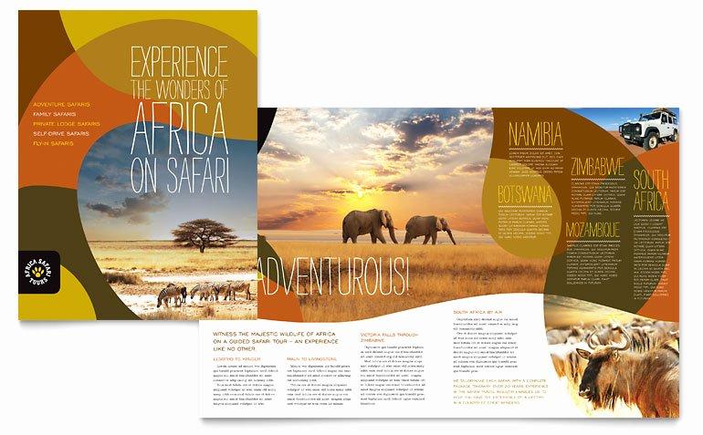 African Safari Brochure Template Word & Publisher