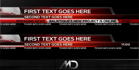 After Effects Project Videohive Broadcast News Lower