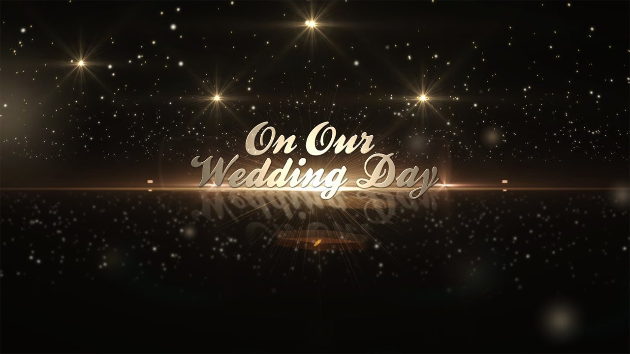 After Effects Template Golden Wedding Pack