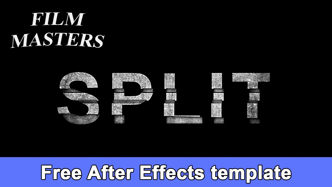 After Effects Title Template Movie Split Title Free