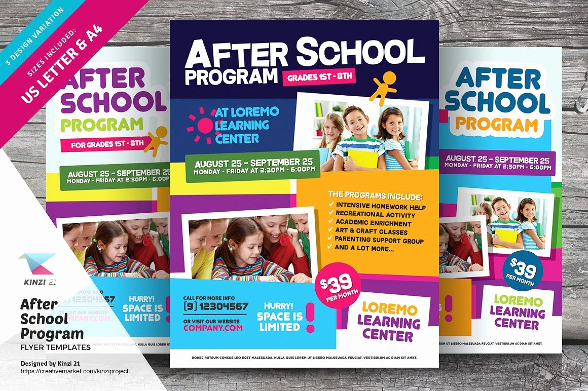 After School Program Flyer Templates Flyer Templates