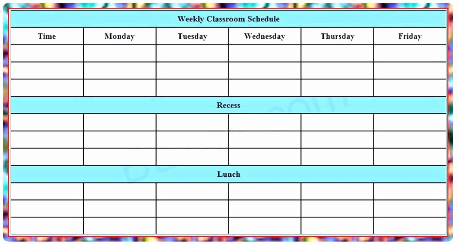 After School Timetable Template Excel software – Clntfrd