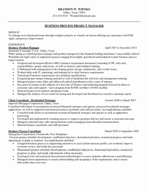 Agile Project Manager Resume Christiantodayfo