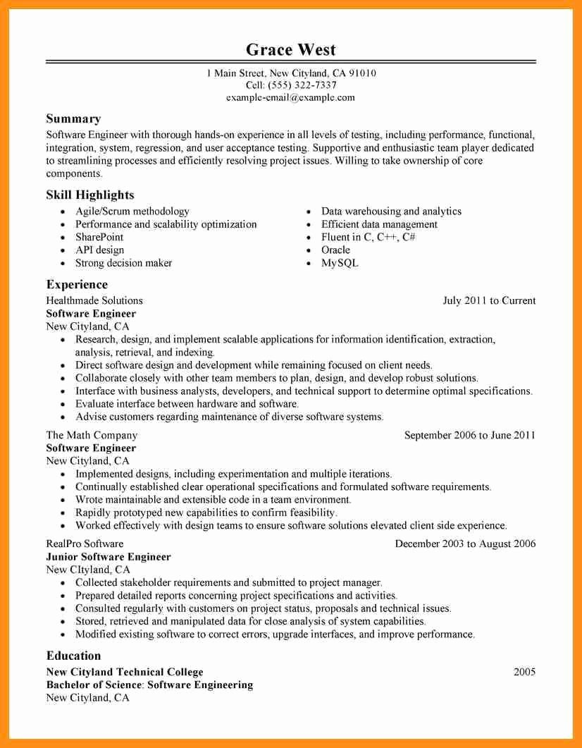 Agile Project Manager Resume Sample Engineering Project