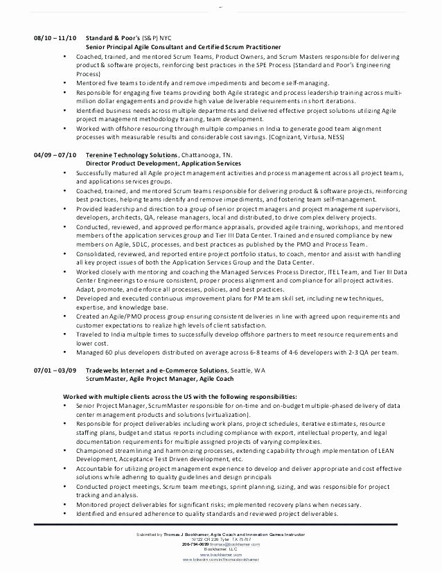 Agile Resume Delectable Agile Scrum Master Resume Samples