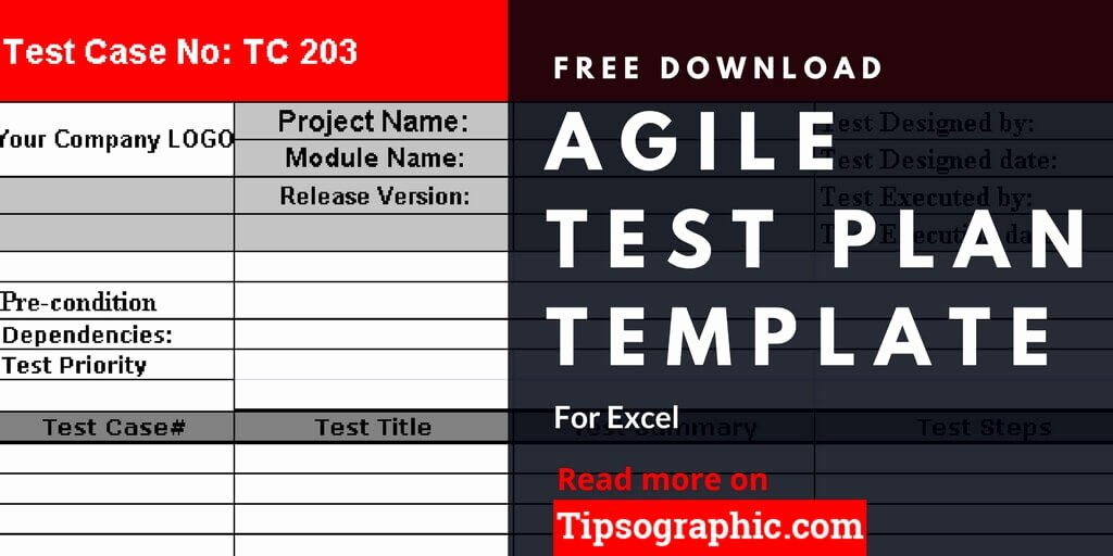 Agile Test Plan Template for Excel Free Download