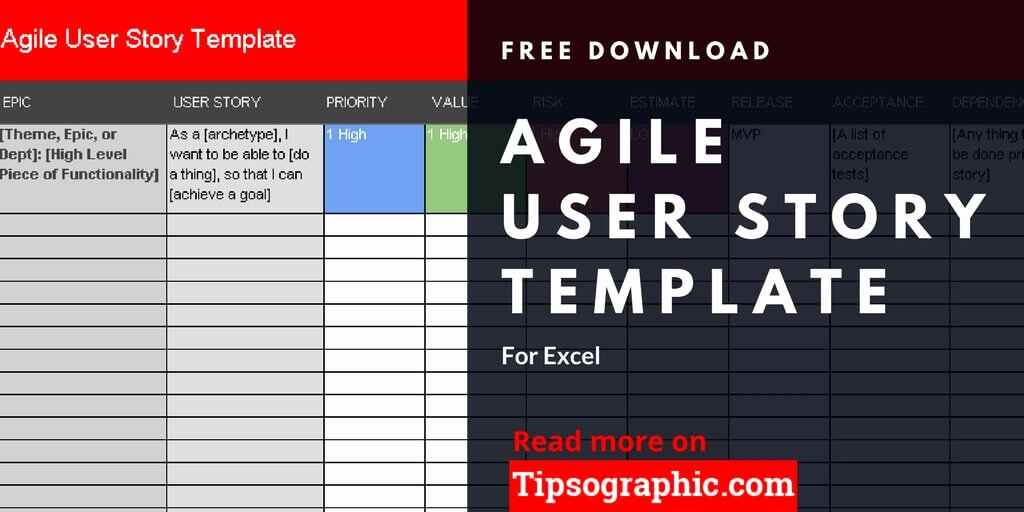 Agile User Story Template for Excel Free Download