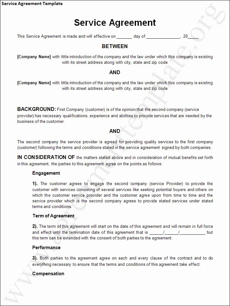 Agreement Template Category Page 1 Efoza