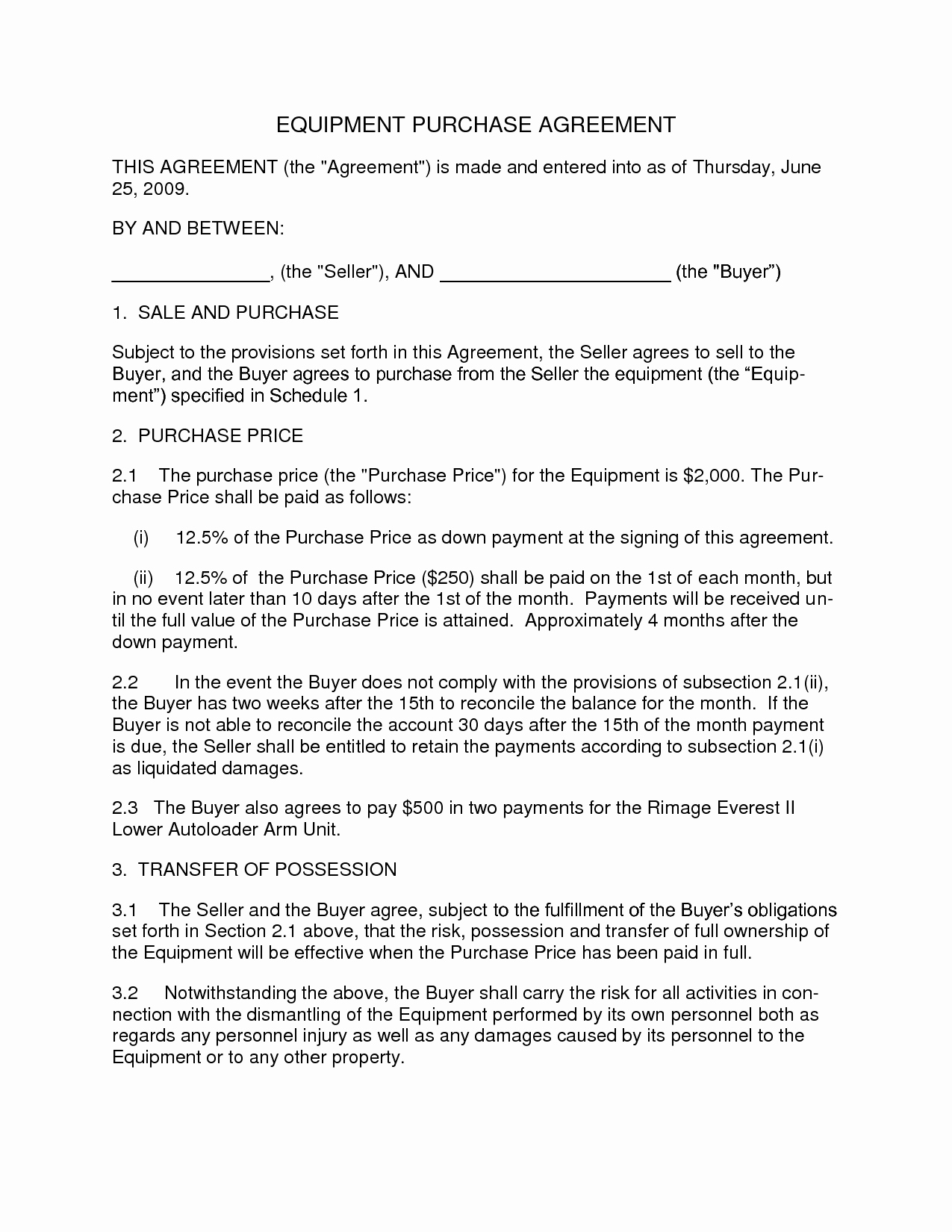 Agreement Template Category Page 2 Efoza