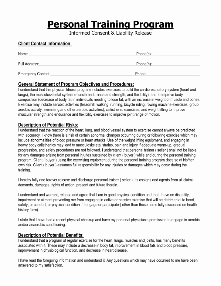 Agreement Training Agreement form