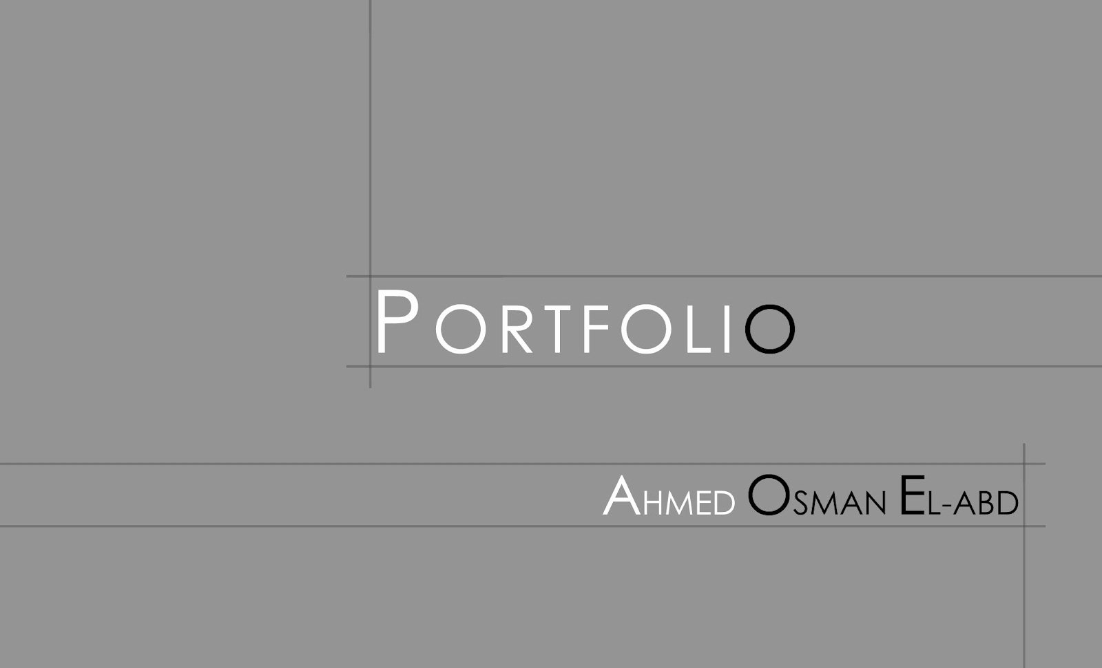 Ahmed Osman Portfolio