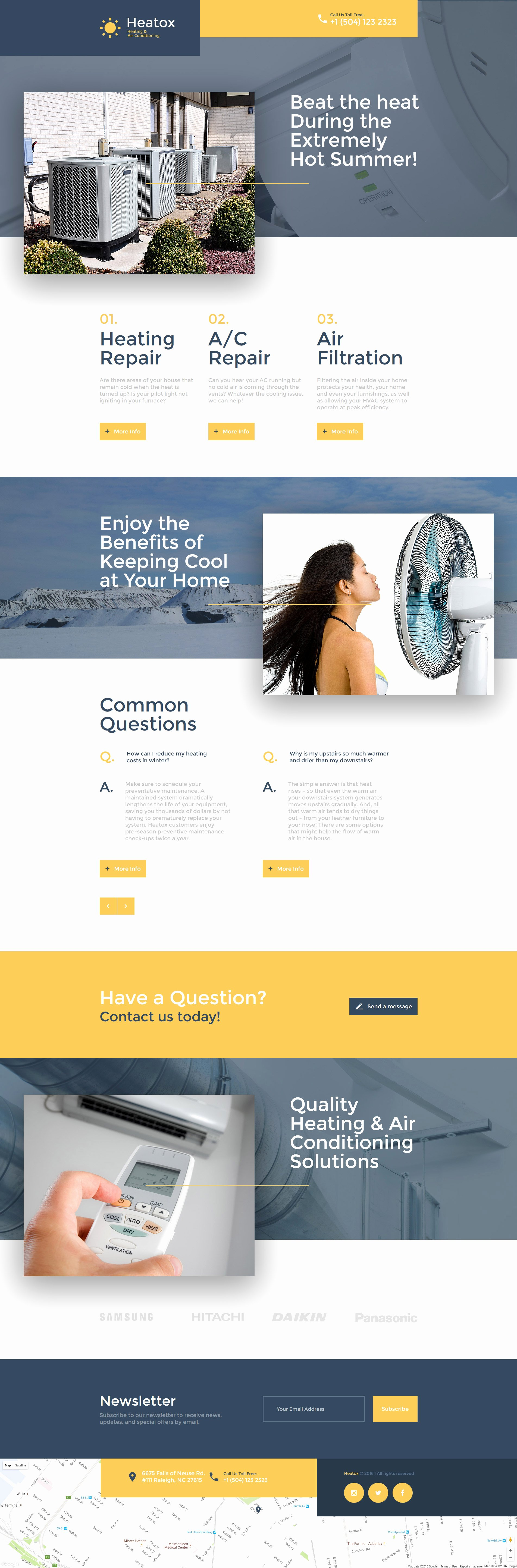 Air Conditioning Landing Page Template