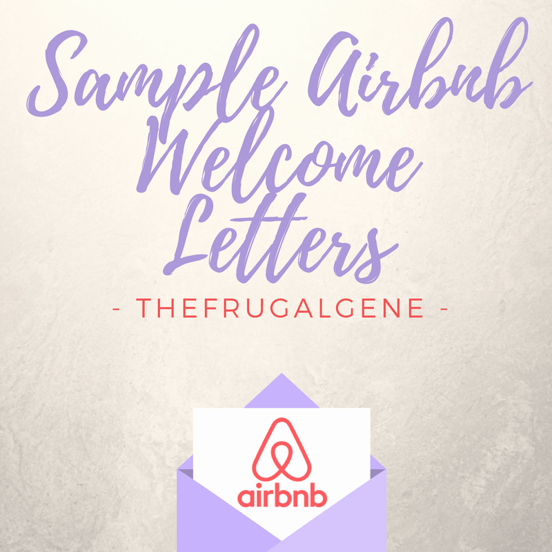 Airbnb Template Messages Wel E Letters & Security Deposits