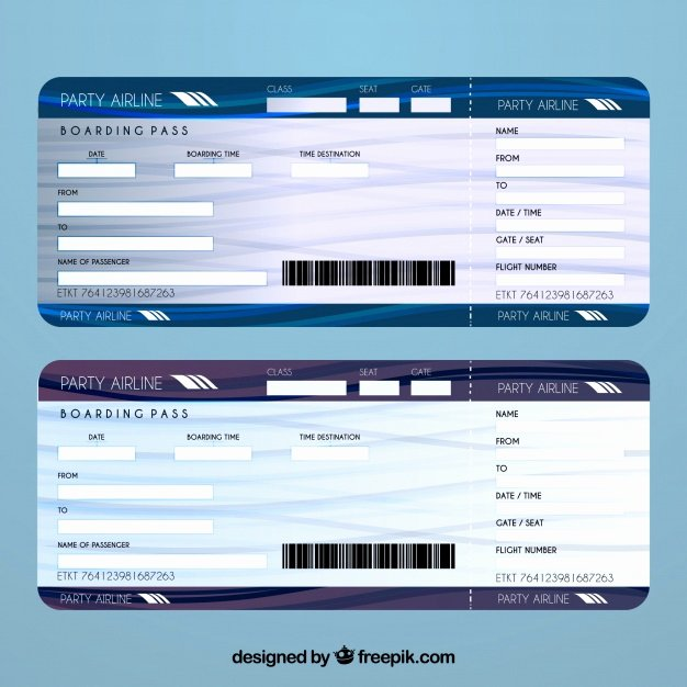 Airline Ticket Template Vector