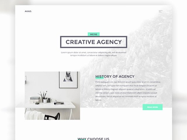 Akad HTML Website Template for Agencies Freebiesbug