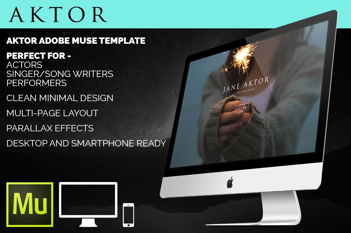 Aktor Adobe Muse Template Website Templates On