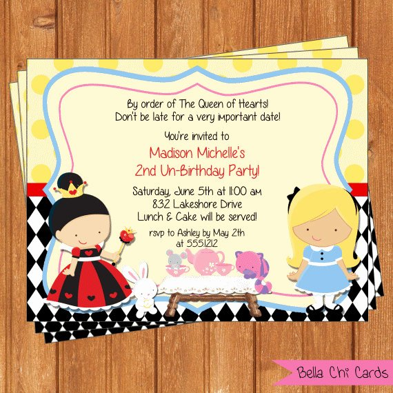 Alice In Wonderland Birthday Invitations Ideas – Bagvania