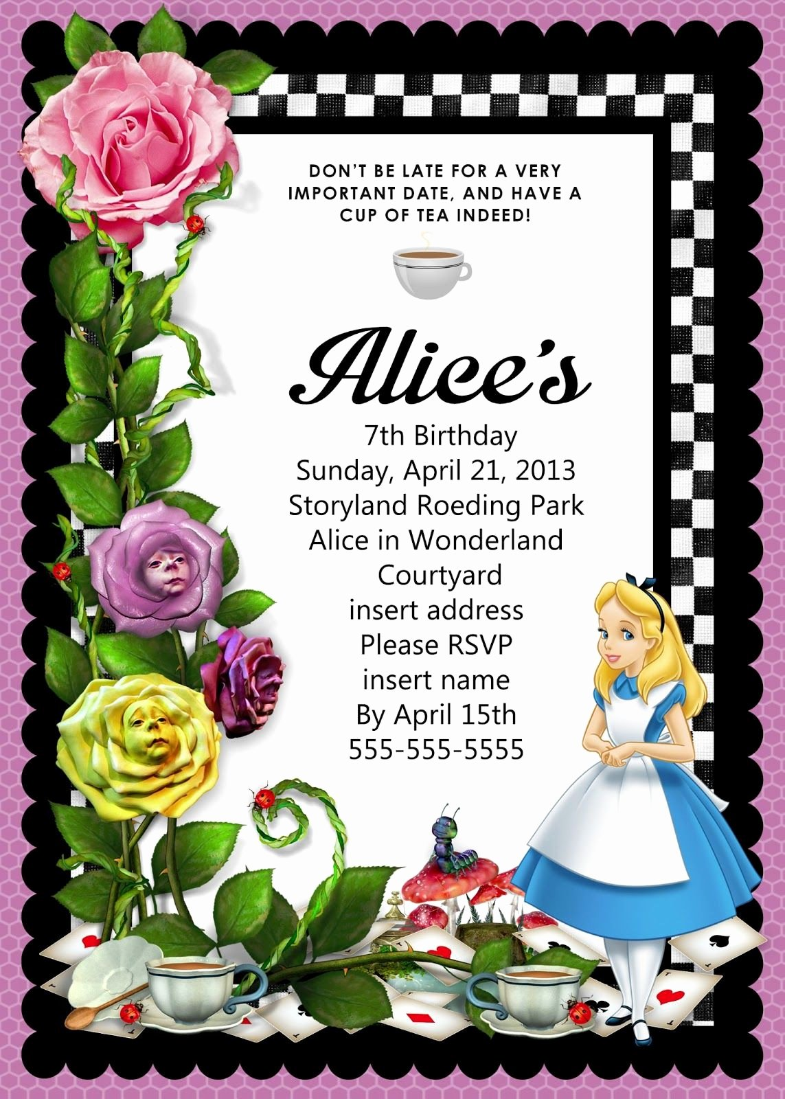 Alice In Wonderland Invitation Treehouses