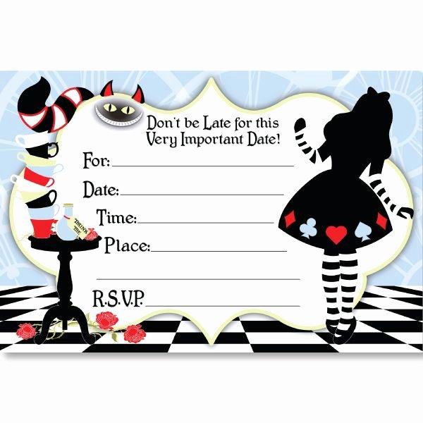 Alice In Wonderland Party Invitations Alice In Wonderland