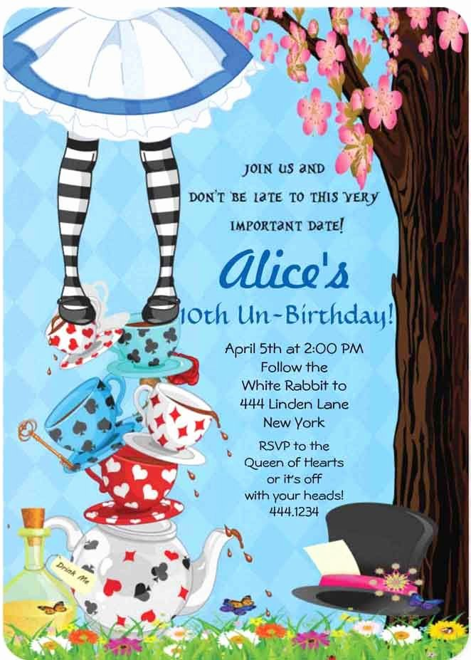alice in wonderland party invitations including interesting party invitation templates with full of pleasure environment 1
