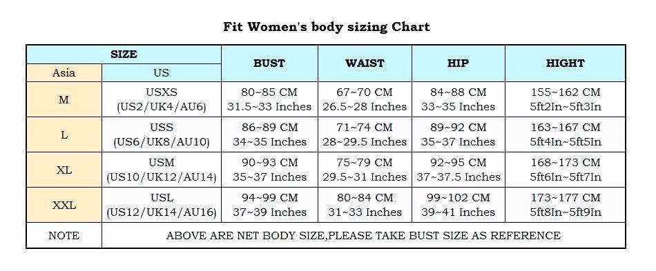 Aliexpress Clothing Size Chart organization Design