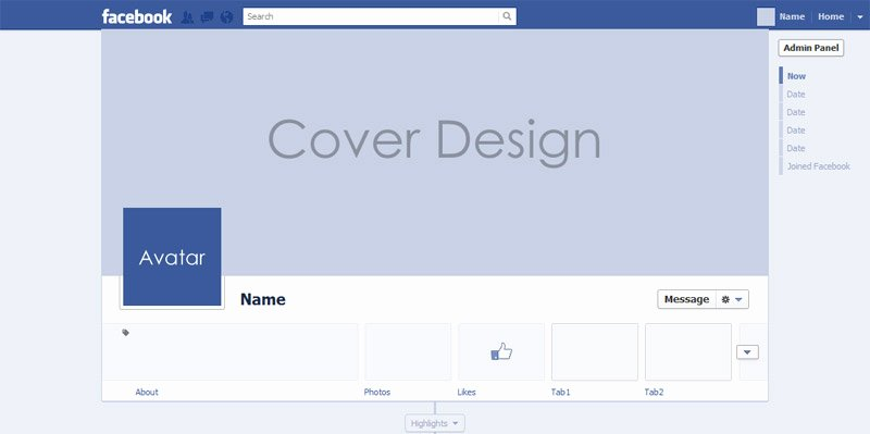 All New Psd for Timeline Cover Mock Up 2013