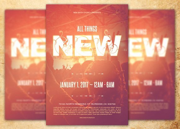 All Things New Church Flyer Template Flyer Templates On