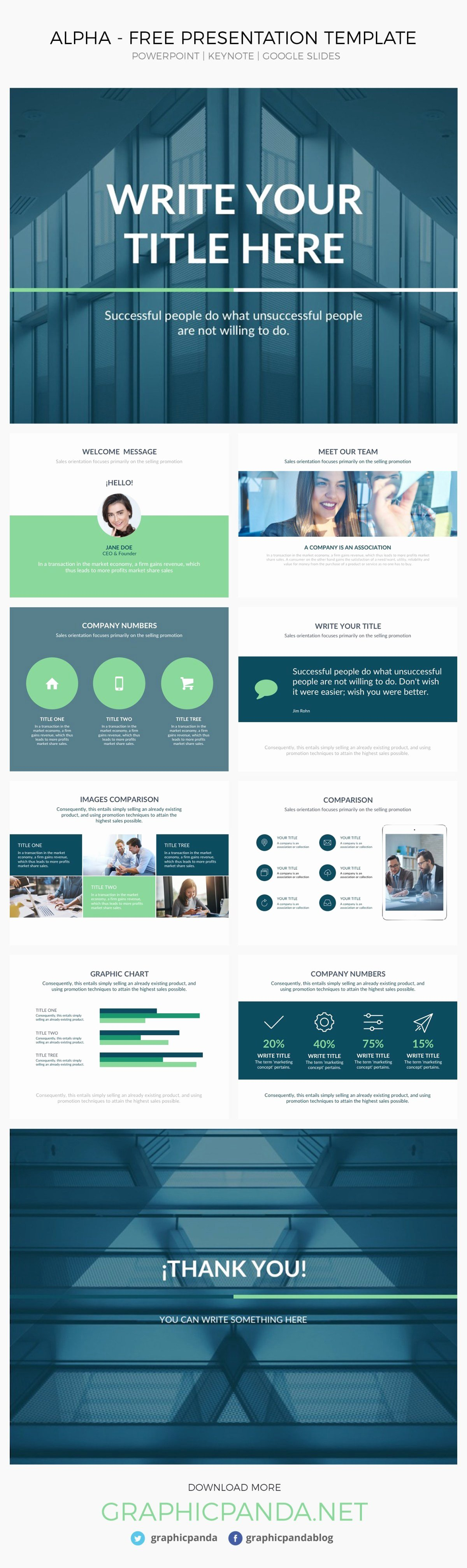 Alpha Presentation Template Powerpoint Keynote Google