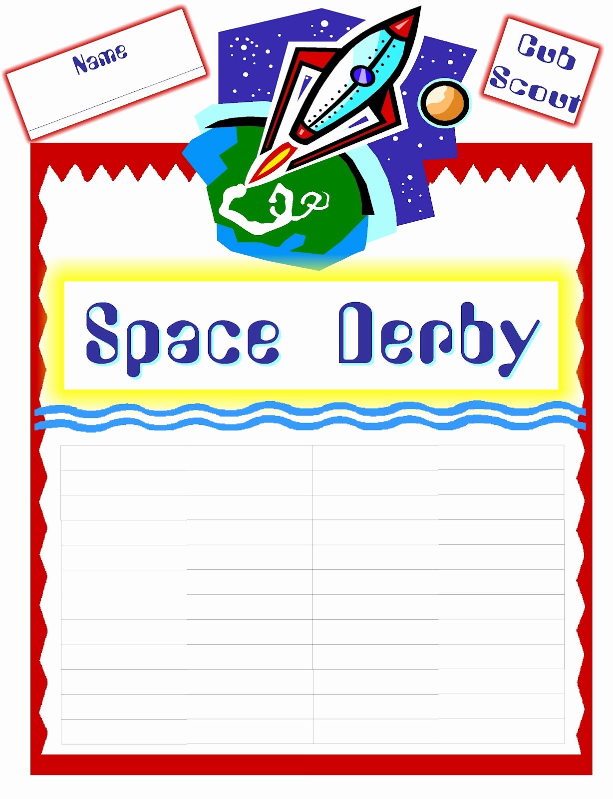 Alpine District Cub Scouts Cub Scout Space Derby Ideas