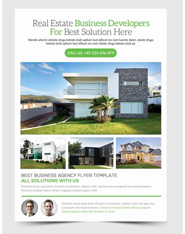 Amazing Free Real Estate Flyer Templates Psd Downl with
