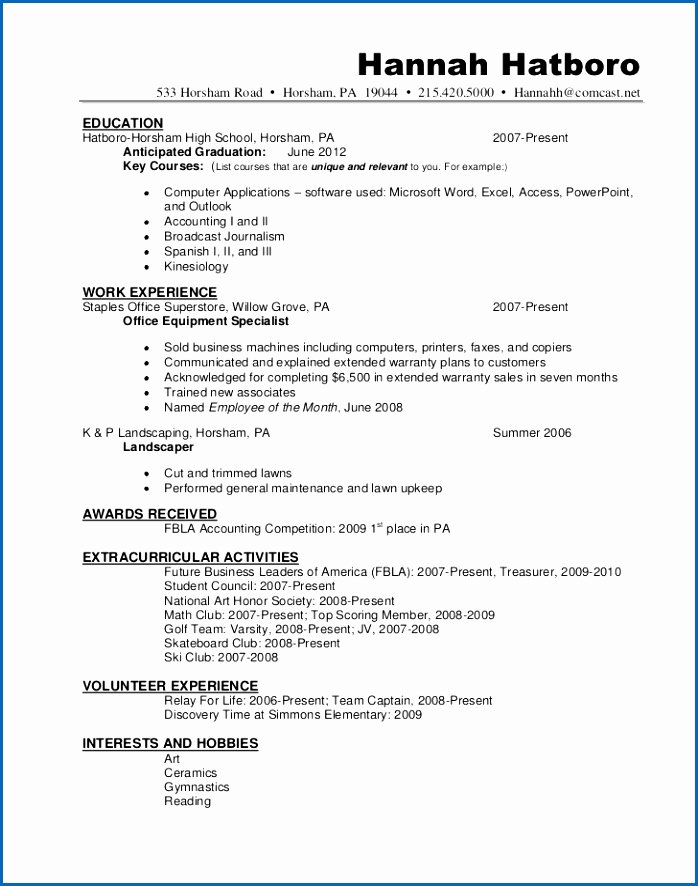Amazing National Honor society Resume Sample 61 with