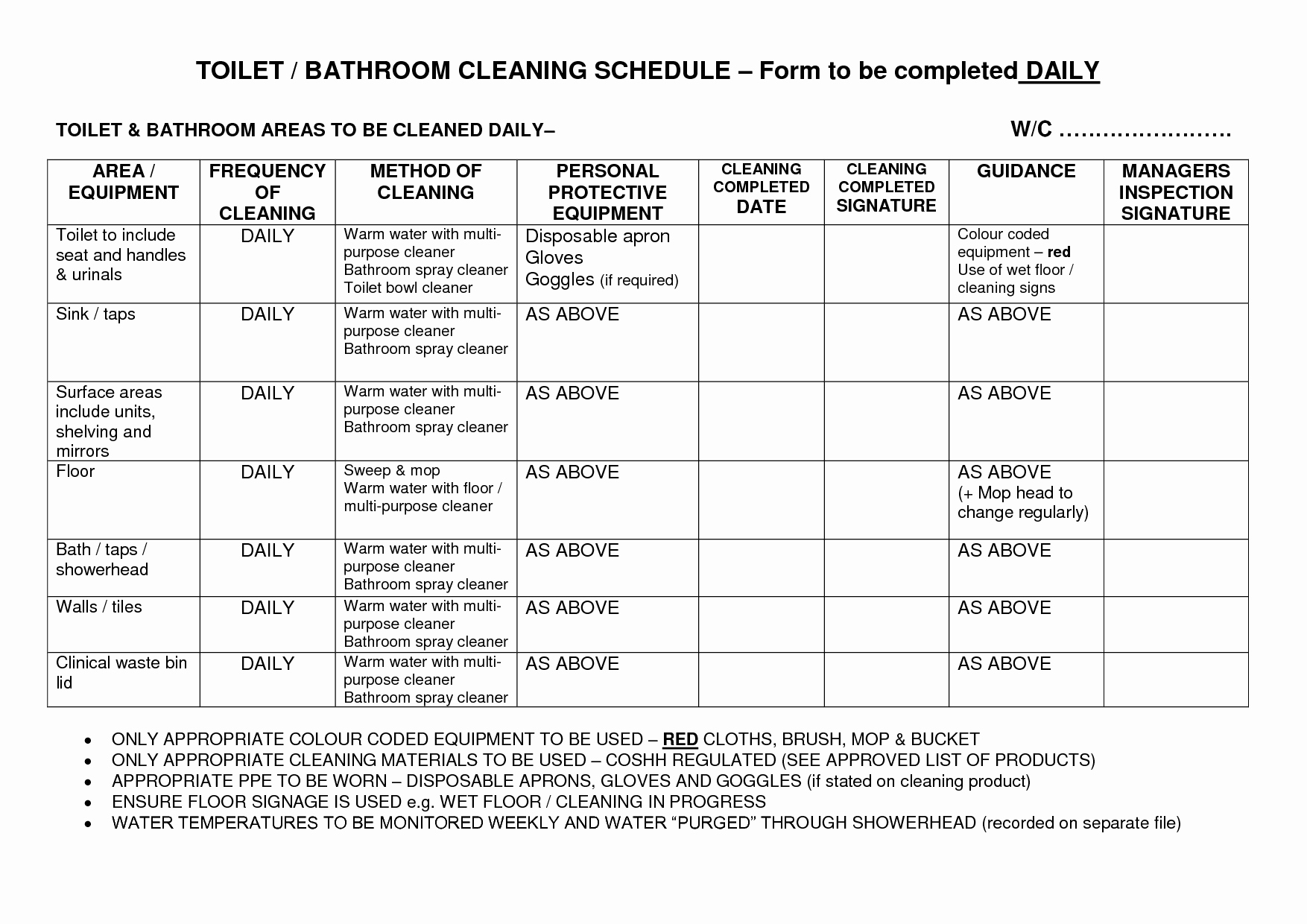 Amazing Of Scan Bathroom Cleaning Checklist 2516
