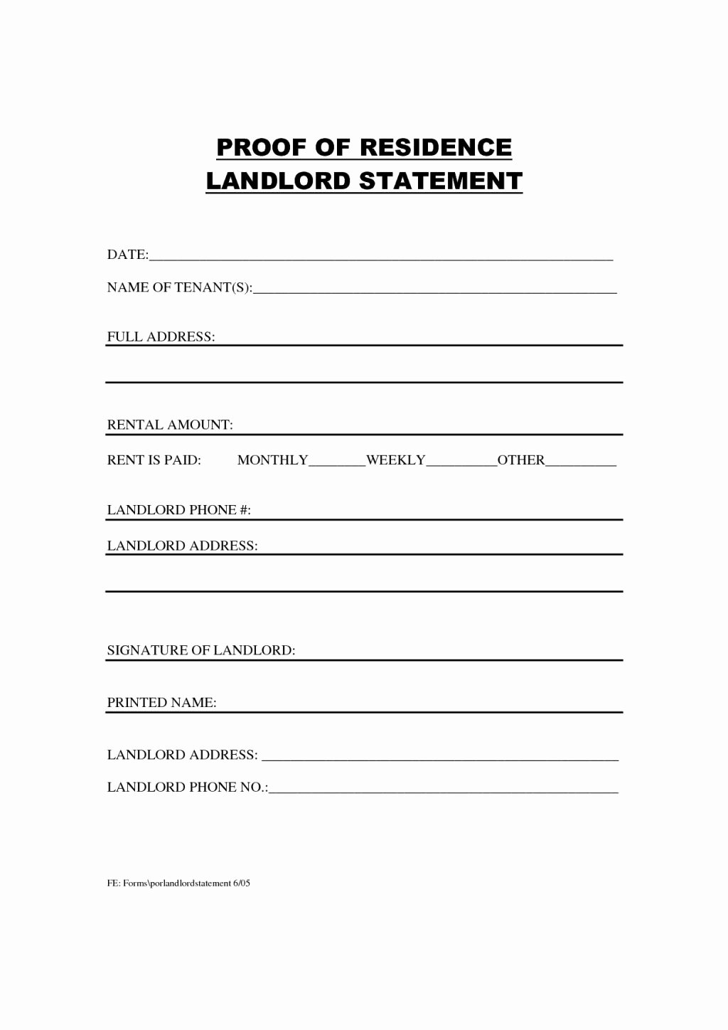 Amazing Proof Residency Letter Template – Letter format