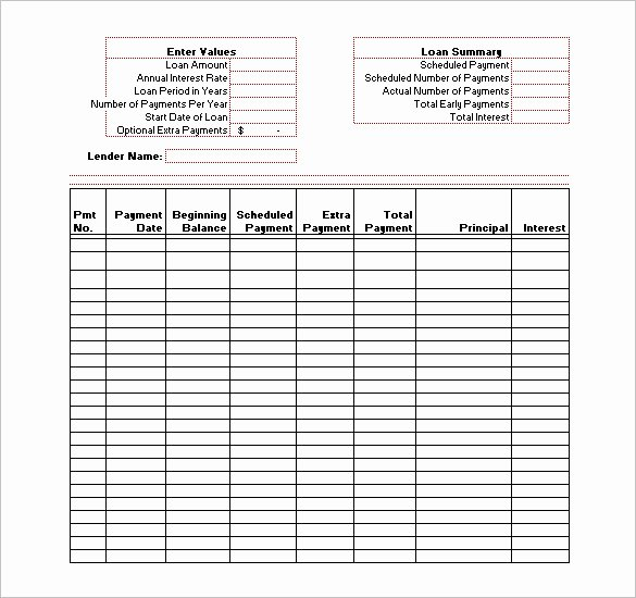 Amortization Schedule Templates – 10 Free Word Excel