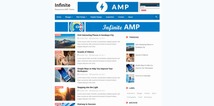 Amp Blogger Template Free theme 2018