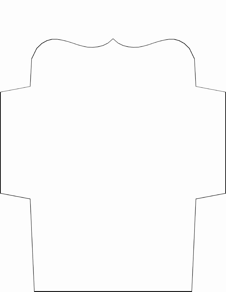 An Envelope Template to Be Used for 4x6 Photos