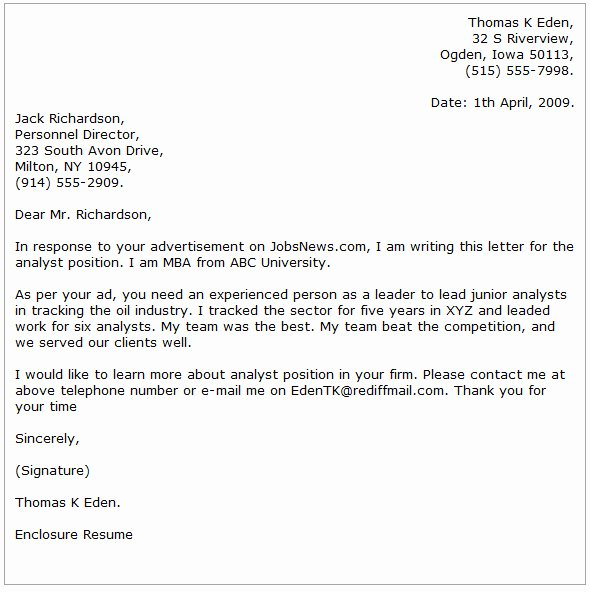 Analyst Cover Letter Examples Cover Letter now