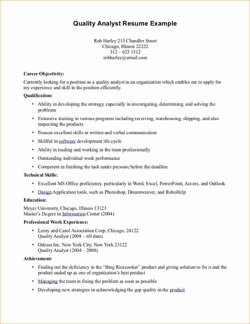 Analyst Resume Example Business Proposal Templated