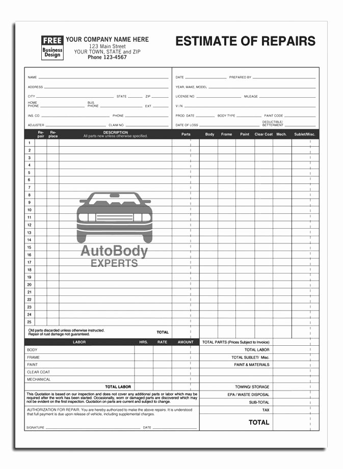 Anchorside Carbonless form Templates