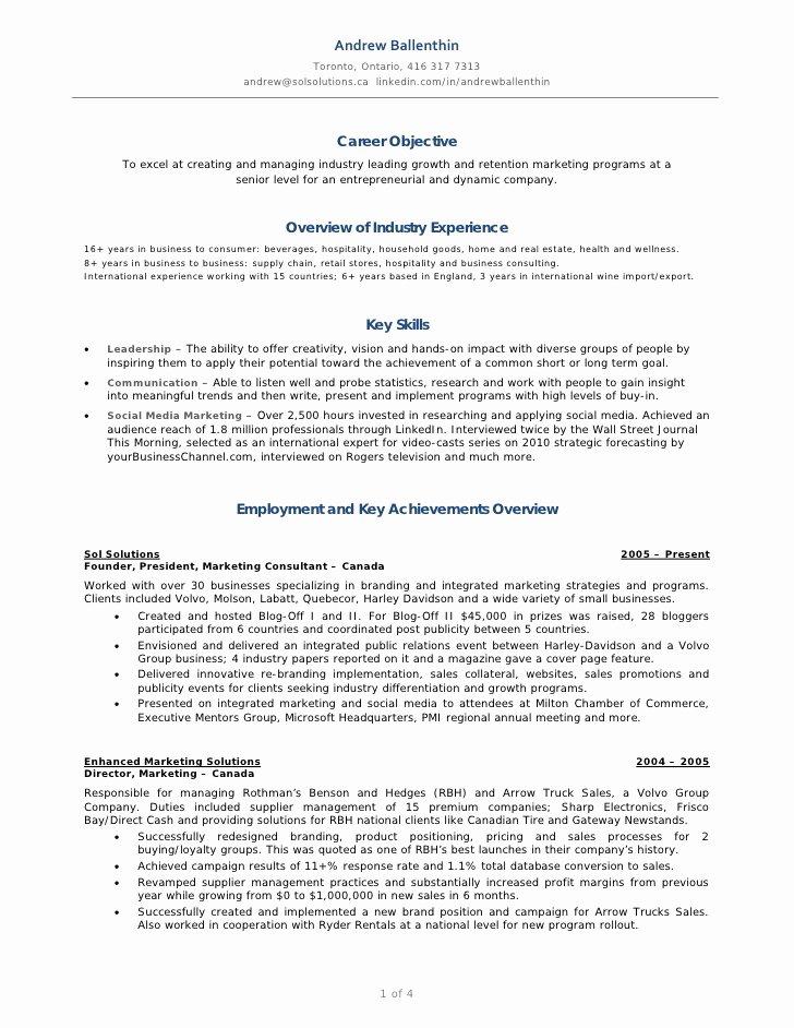 Andrew Ballenthin Marketing & social Media Resume
