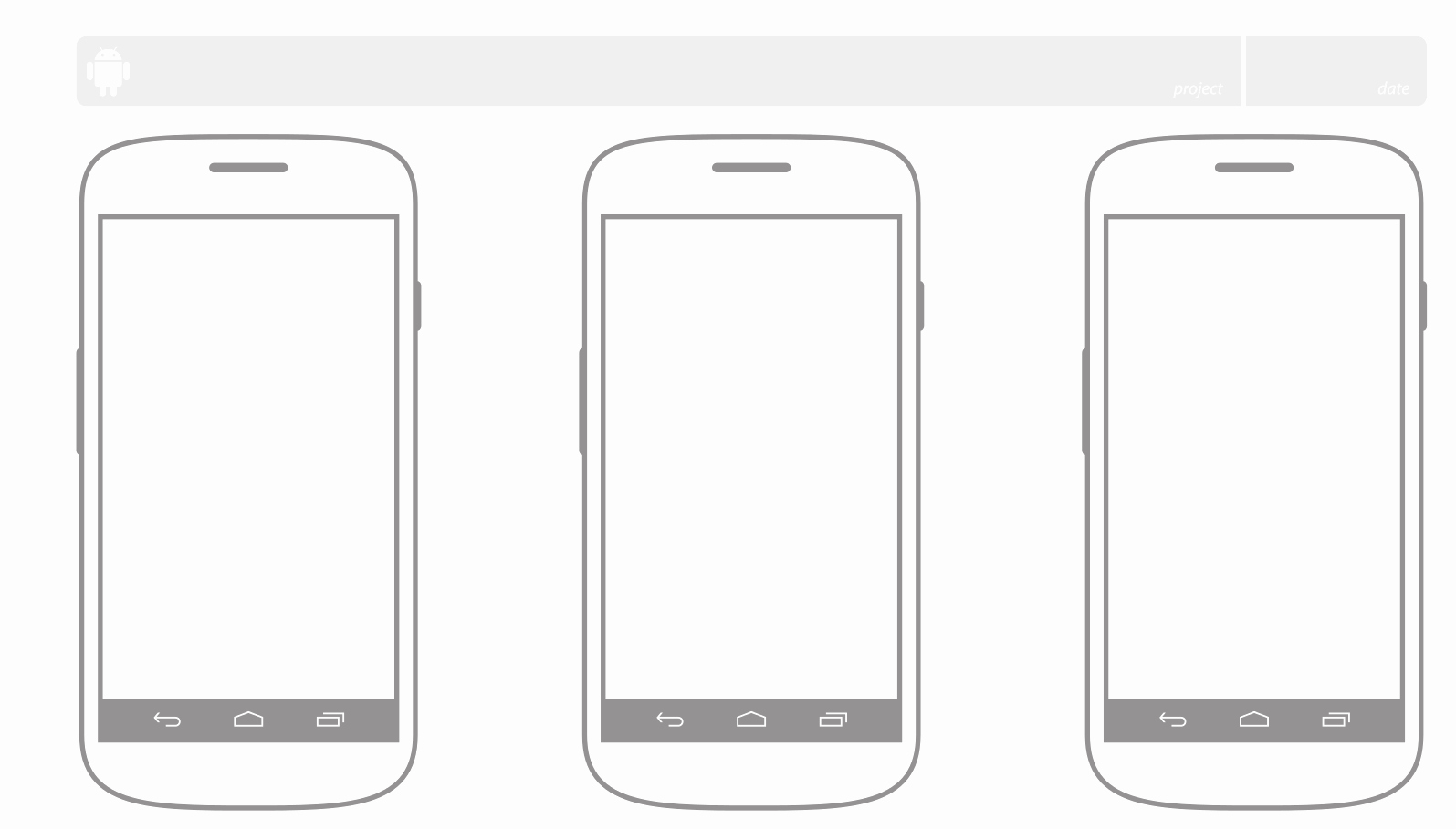 Android Ui Patterns Ui Sketching On Paper Templates