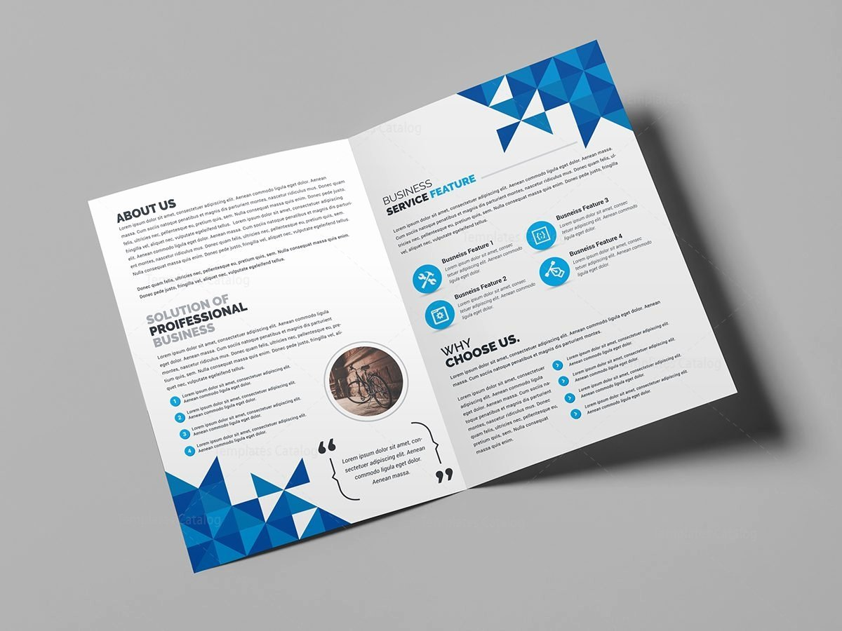 angel creative bi fold brochure template
