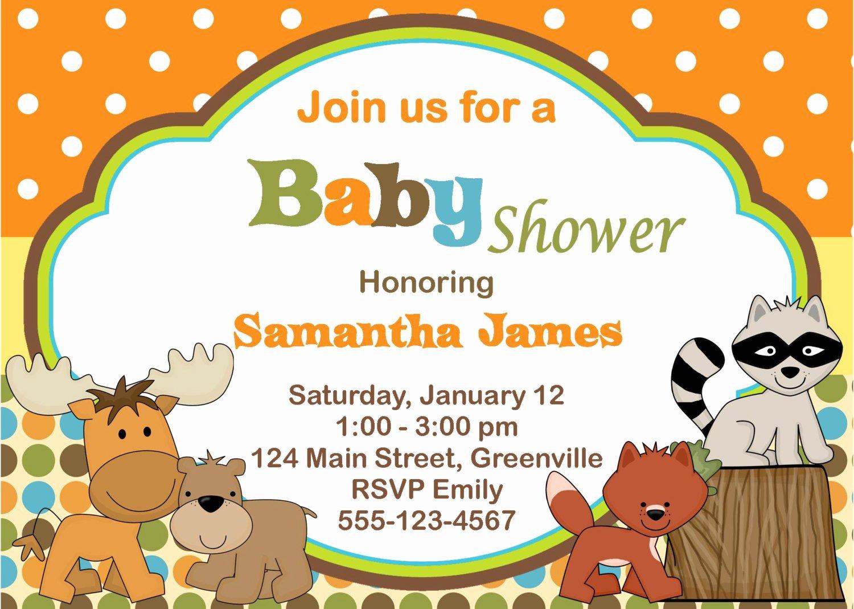 Animal Baby Shower Invitations