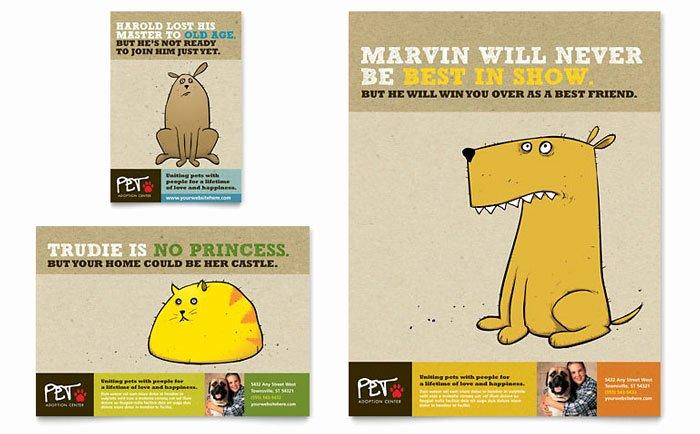 Animal Shelter & Pet Adoption Flyer & Ad Template Design