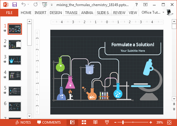 Animated Chemistry Powerpoint Template
